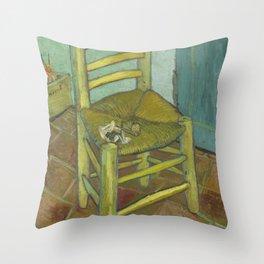 Van Gogh's Chair Throw Pillow