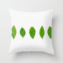 Brisk Bright Leaves Throw Pillow