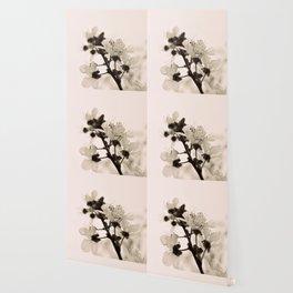 Blossoms Monochrome Wallpaper