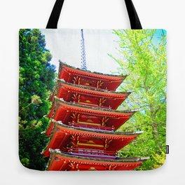 Japanese Pagoda Tote Bag