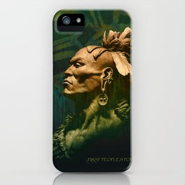 First Peoples Power - woodland indian iPhone Case