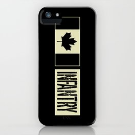 Canadian Military: Infantry (Black Flag) iPhone Case