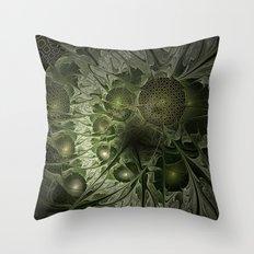 Fractal Moss Throw Pillow