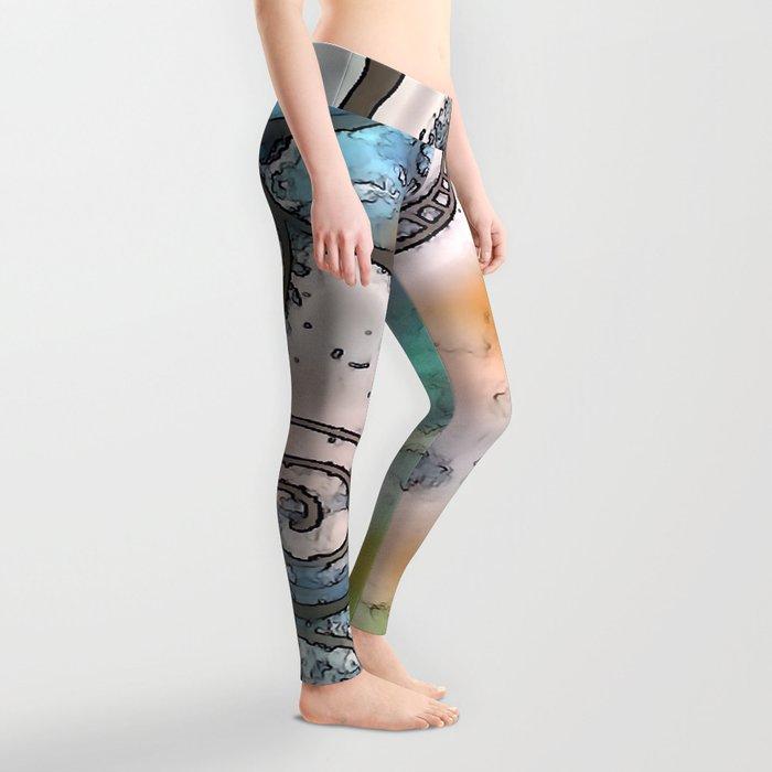 Vintage swirl Leggings