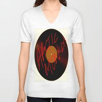 arctic monkeys V-neck T-shirts featuring Arctic Monkeys by SLIDE