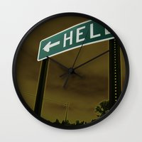 hell Wall Clocks featuring Hell by Litew8