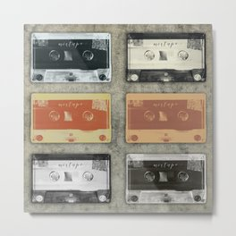 Retro Mixtape Variations Metal Print