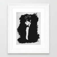 evan peters Framed Art Prints featuring Evan Peters by kristti