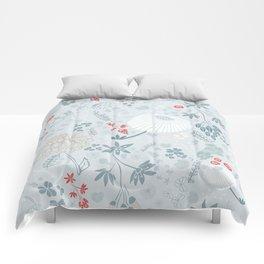Field of Flowers on Blue Comforters