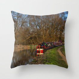 Living On The Kennet and Avon Canal Throw Pillow