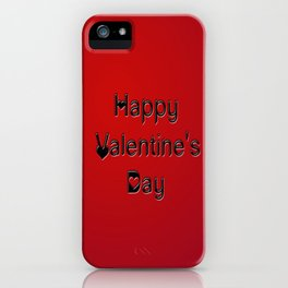 Happy Valentines Fingers iPhone Case