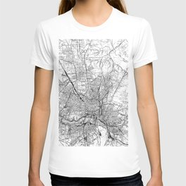 Vintage Map of Richmond Virginia (1934) BW T-shirt