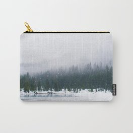Evergreen Winter Forest (Color) Carry-All Pouch