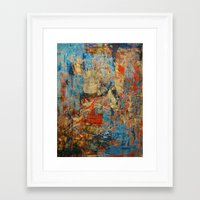 calendars Framed Art Prints featuring Mannaz - Runes Series by Fernando Vieira