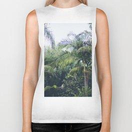 Palm Trees in a Tropical Garden Biker Tank