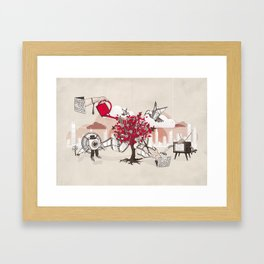 Celluloid Gardens Framed Art Print