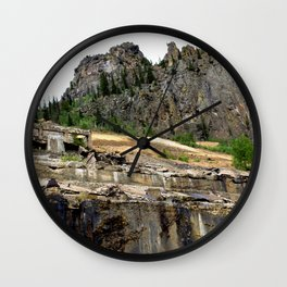 At the Base of the Eureka Gold Mine, on the Animas River Wall Clock