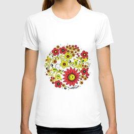 Floral hohloma T-shirt