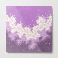 Lavender Chevron Queer Pride Galaxy Metal Print