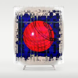 Red & Blue Shower Curtain