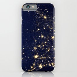 Satellite Image City Lights Of The United States America Year 2012 Ultra HD iPhone Case