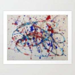 Lego: Jackson Pollock 2 Art Print