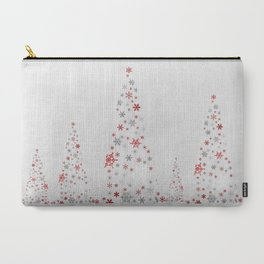 Snowflake Trees Carry-All Pouch