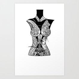 mannequin3 Art Print