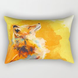 Blissful Light - Fox portrait Rectangular Pillow