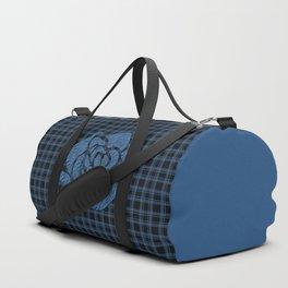 Blue patchwork , rose Duffle Bag