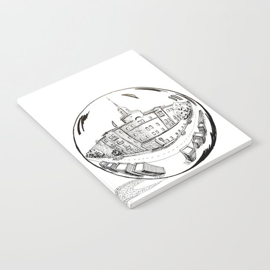 City in a glass ball Notebook