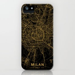 Milan, Italy - Gold iPhone Case