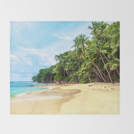 Tropical Beach - Landscape Nature Photography Throw Blanket