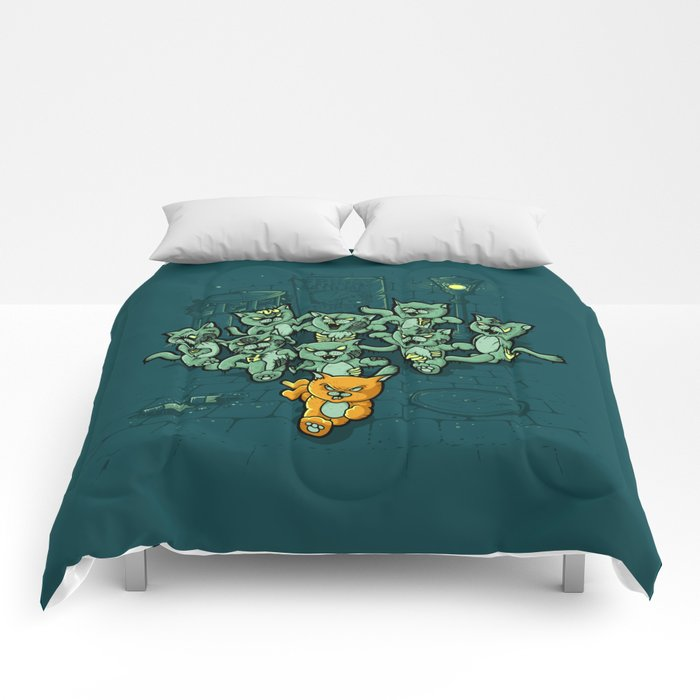Zombie Cats Comforters