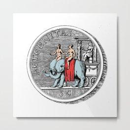 Elephant Riders Metal Print