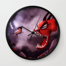 Niko and the Deadly Dragon Wall Clock