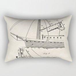 Life Saving Apparatus Vintage Patent Hand Drawing Rectangular Pillow