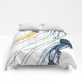 Metallic Jellyfish II Comforters