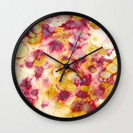 Nature's Grace - Alcohol ink painting Wall Clock