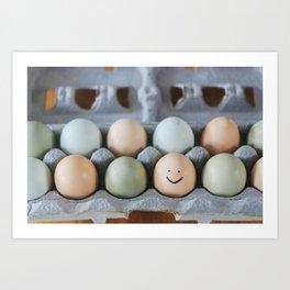 Happy Egg Art Print