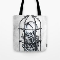 cage Tote Bags featuring Fetus Cage by Elias Aquino