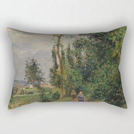 Camille Pissarro - Côte des Grouettes, near Pontoise (1878) Rectangular Pillow