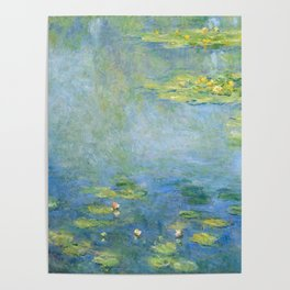 Water Lilies 1906 by Claude Monet Poster