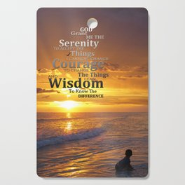 Serenity Prayer With Sunset By Sharon Cummings Cutting Board