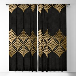 Reims, France: Luxueux Black and Gold Art Deco Blackout Curtain