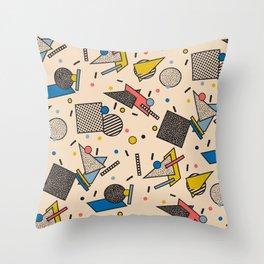 Memphis Inspired Pattern 7 Throw Pillow