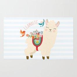 Llamaste - When A Llama Offers You A Respectful Greeting Rug