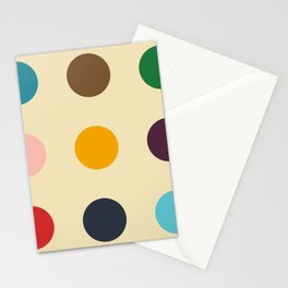 Knockers - Colorful Dots on Beige Stationery Cards