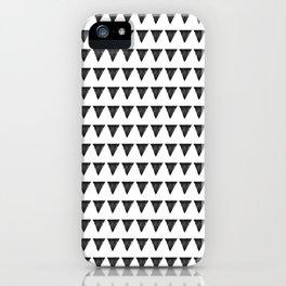 Nordic interior triangles II iPhone Case