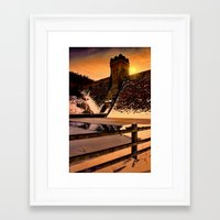 dark tower Framed Art Prints featuring The Dark Tower by Deltic Digital Imaging